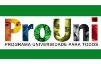 Inscrições ProUni 2016